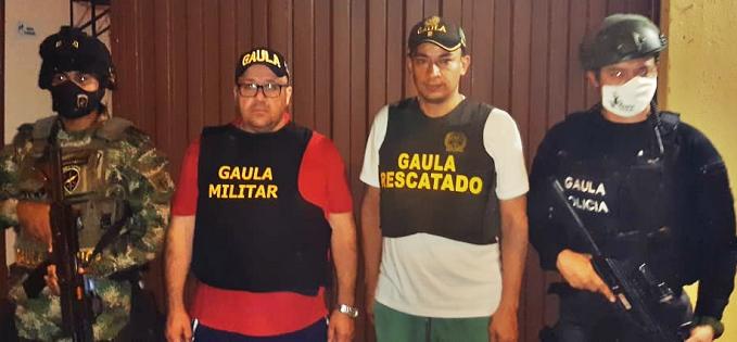 Liberados por el GAULA de la Policía, encoordinación con el GAULA Militar, y CTI de la Fiscalía