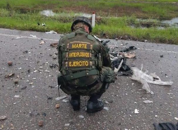 Dos artefactos explosivos fueron desactivados en Tame.