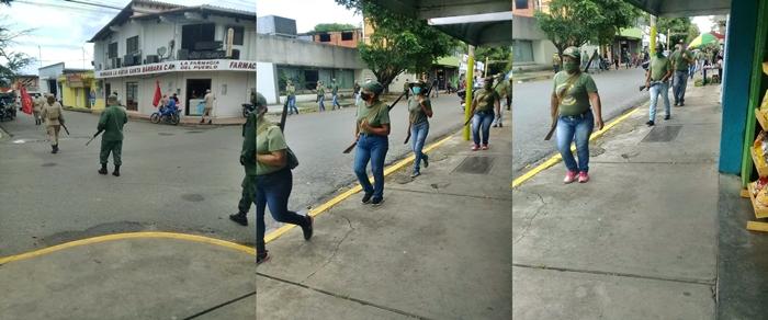 Personas de la tercera edad integran el grupo de personas armadas.-