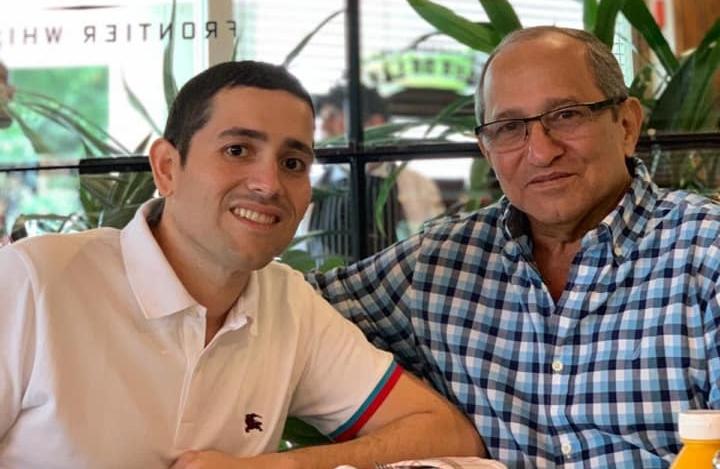 Allan Acosta Velásquez y su padre Guillermo Acosta.-
