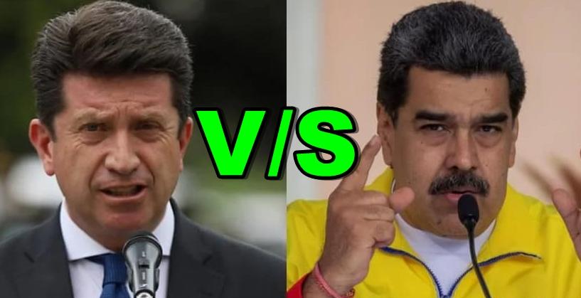 Diego Molano y Nicolás Maduro.