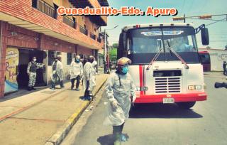 traslado de pacientes con covid-19 en Guasdualito.