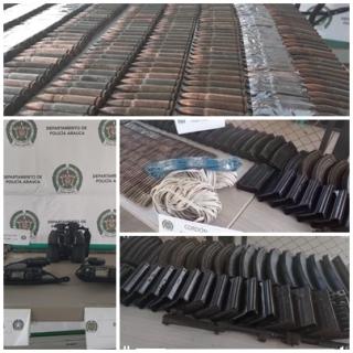 Material bélico incautó las autoridades en sector rural de Arauca.