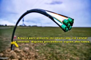 No han podido reparar los daños en la red de fibra óptica para Arauca.