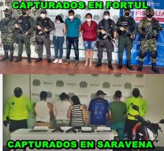 Duros golpes acertó las Fuerzas Militares que operan en Arauca .