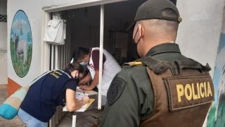 Unidad de Salud y Policía Nacional verificaron estado de las Famas.
