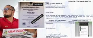 Walter Botía presentó un título y una tarjeta profesional falsos.