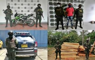Reporte de las actividades operacionales de la Policía en el Departamento de Arauca.