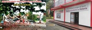 Totalmente destruidas las instalaciones del SENIAT, en la Victoria-Estado Apure.