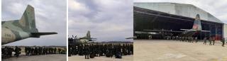 avión de la FAV Y-8 ( 2410) partió desde Caracas.-