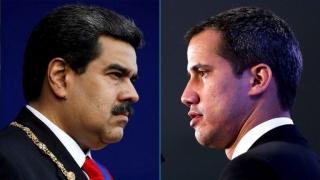 Nicolás Maduro y Juan Guidó en busca del diálogo directo.-