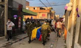 Por las calles de Arauquita desfilaron los militares que perdieron la vida en emboscada.-