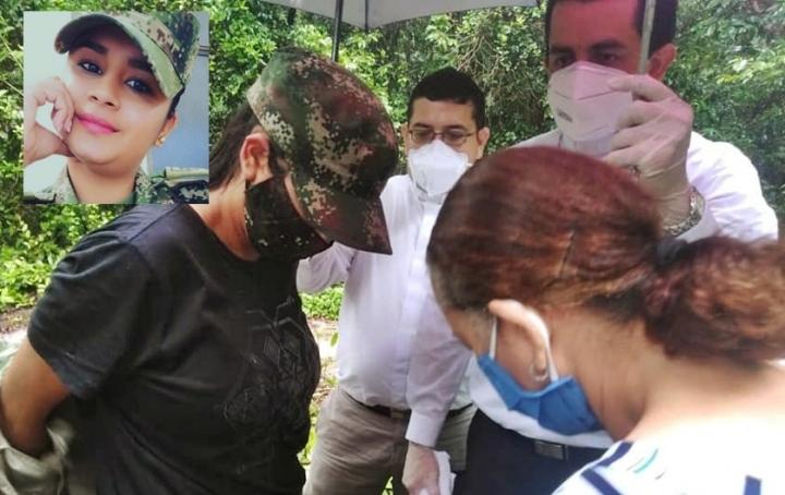 Nubia  Alejandra López Correa suboficial del Ejército Nacional.