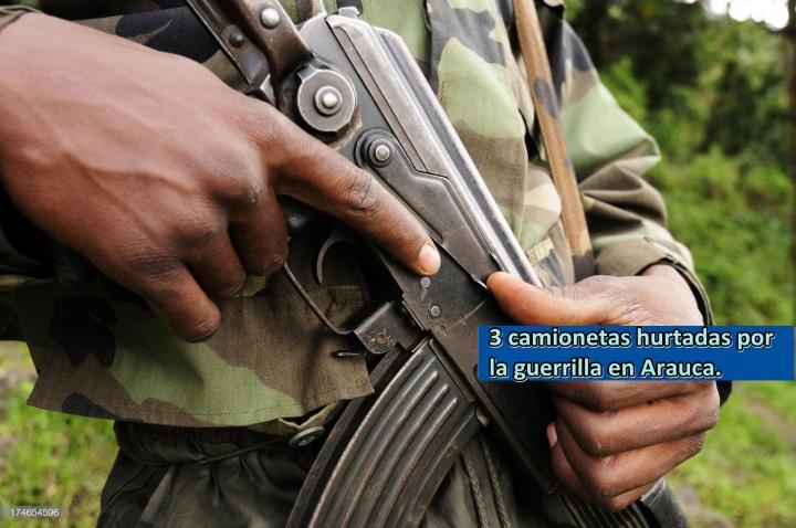 Guerrilla declara objetivo militar a escoltas en Arauca.