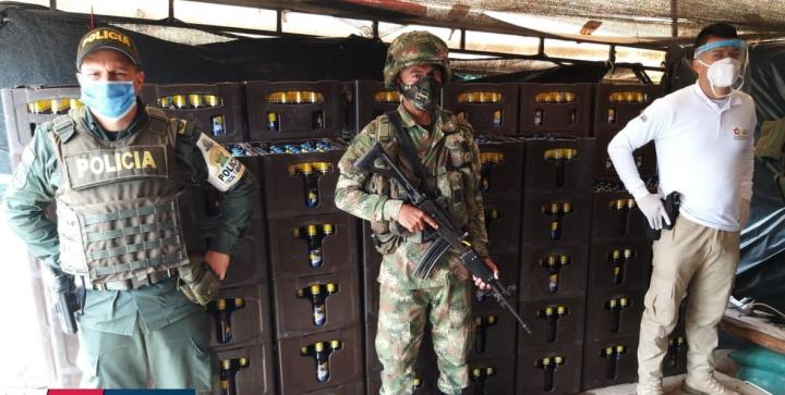 2400 unidades de cerveza y 200 de ron fueron confiscadas.