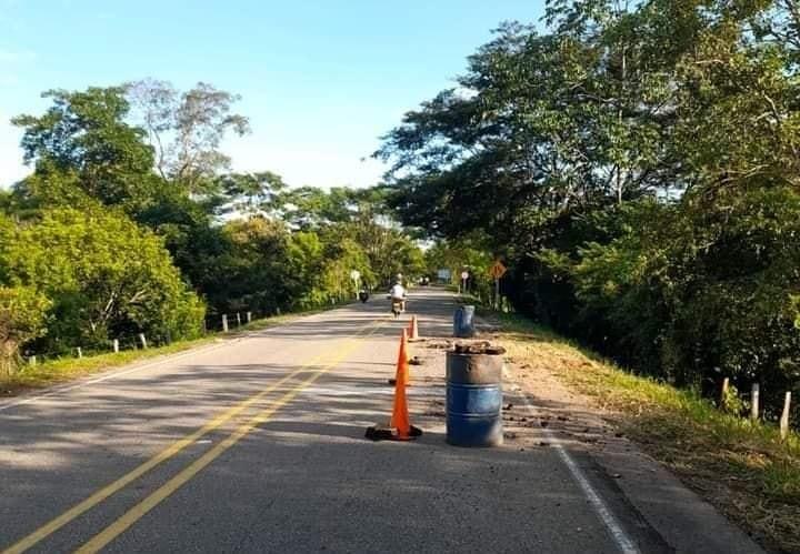 Lugar del atentado en el sector de la vereda El Futuro, municipio de Arauquita.